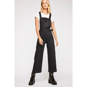 NEW Free People Belted Twill Jumpsuit Sz 2